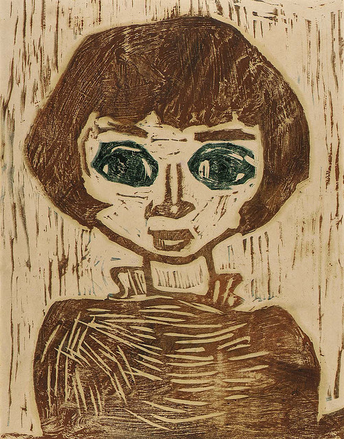 Refugee Child, by William H. Johnson, from Smithsonian Institution (Flickr)