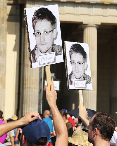 Snowden protest by mw238