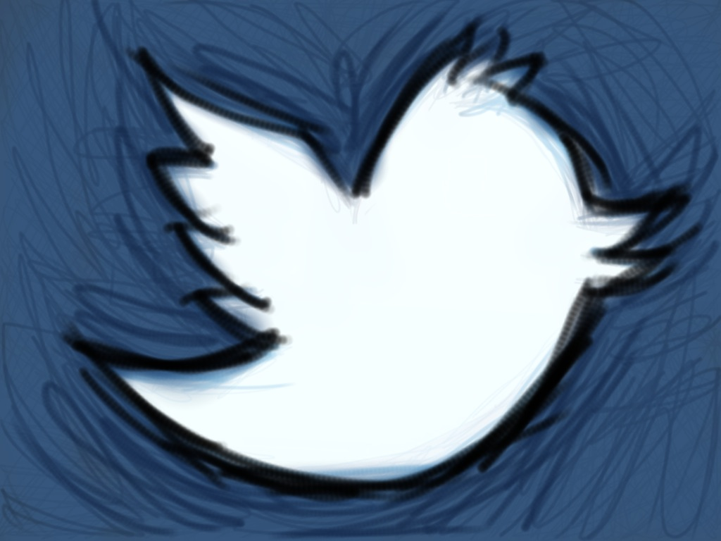 Twitter bird sketch, flickr, creative comms licence, shawncampbell