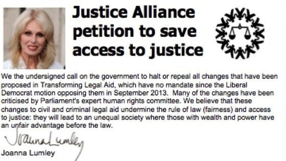 Justice Alliance petition