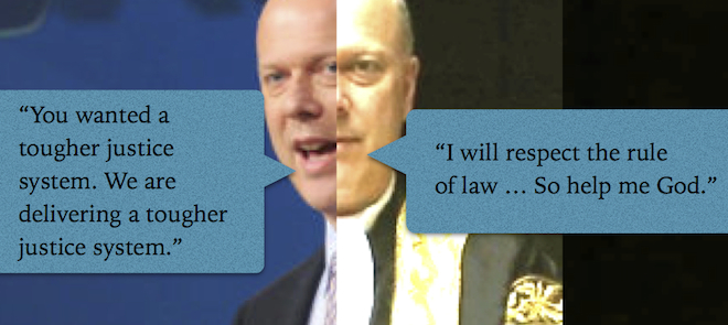 Chris Grayling, PR-man-turned-politician . . . and Lord Chancellor