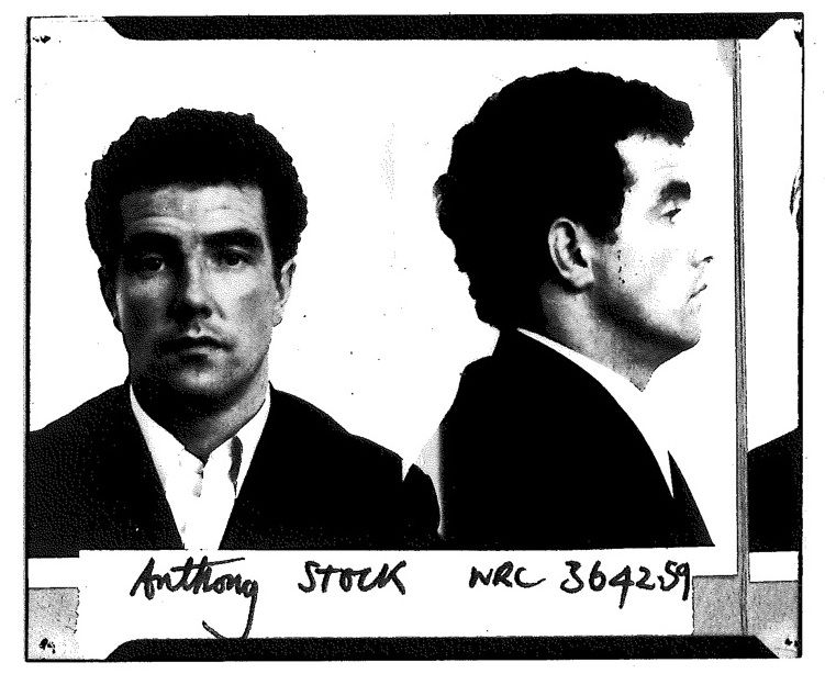 Tony Stock, mug shot - 1970
