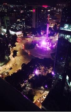 El Ángel: From the Policia Federal Rooftop, Paseo de la Reforma