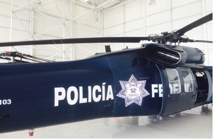 Blackhawk helicopter of the Policia Federal