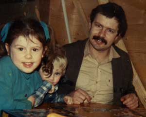 Daniel Morgan with his children, Sarah and Daniel