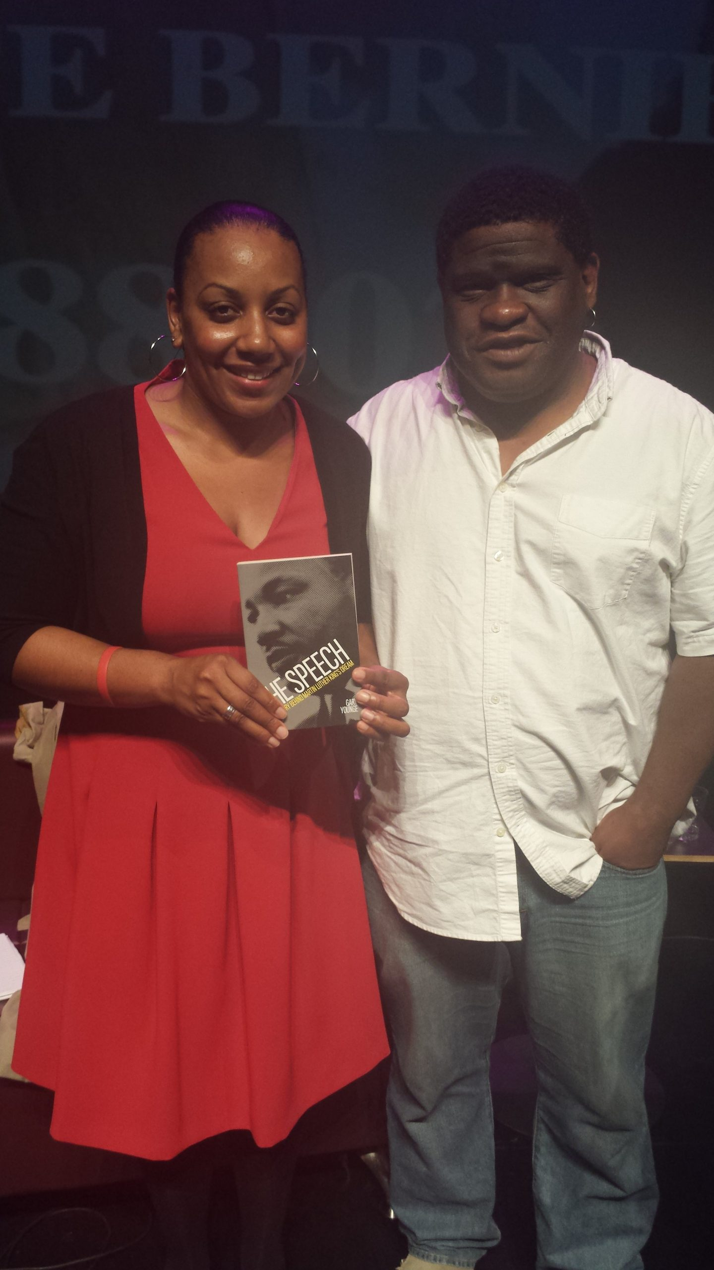 Gary Younge, with the JusticeGap's Miranda Grell. Miranda was on the panel discussion