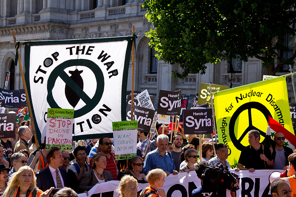 Syria- Stop the War march, London, 31 August 2013, Chris Beckett