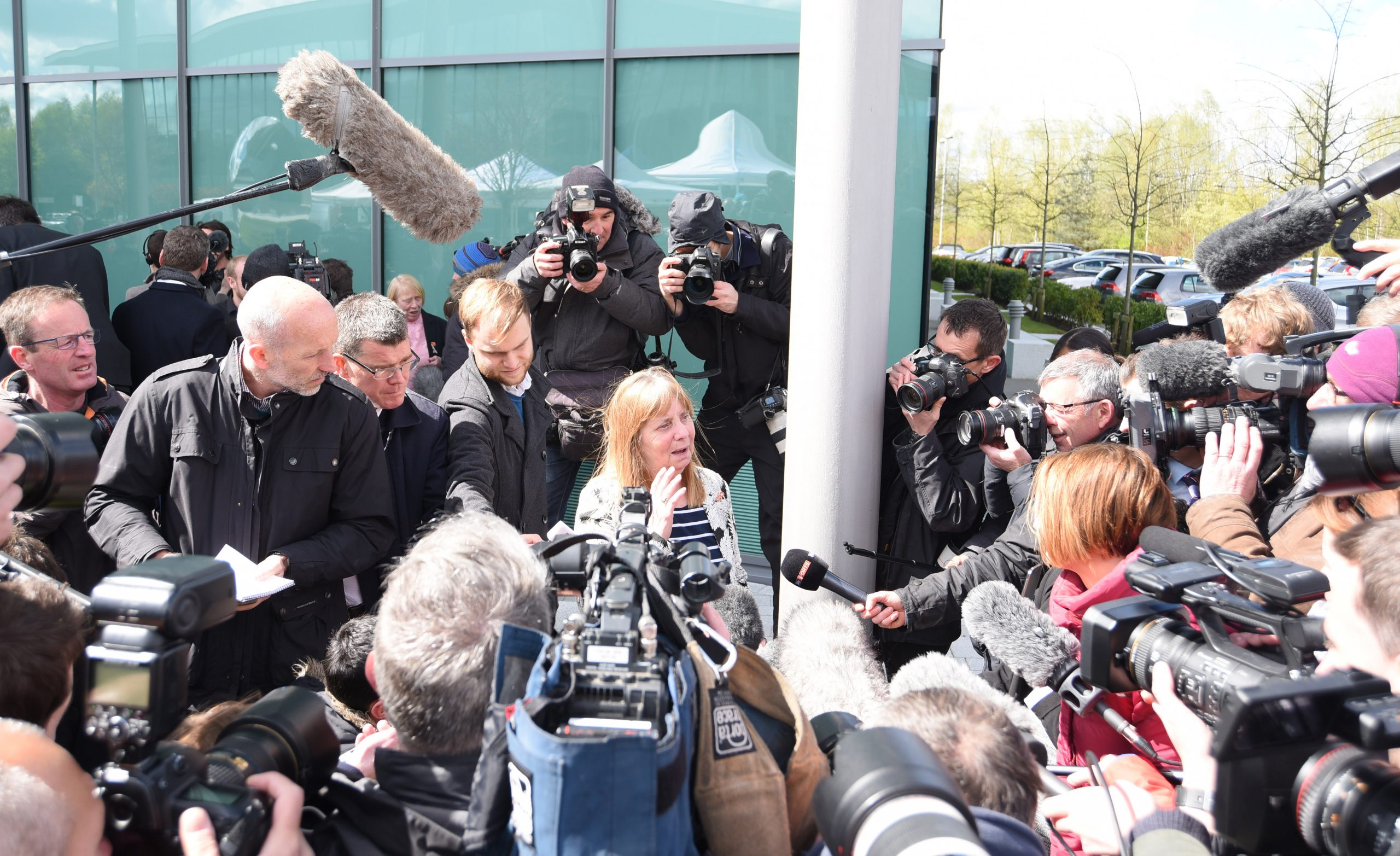Margaret Aspinall after the Warrington inquests ©Paul Burrows