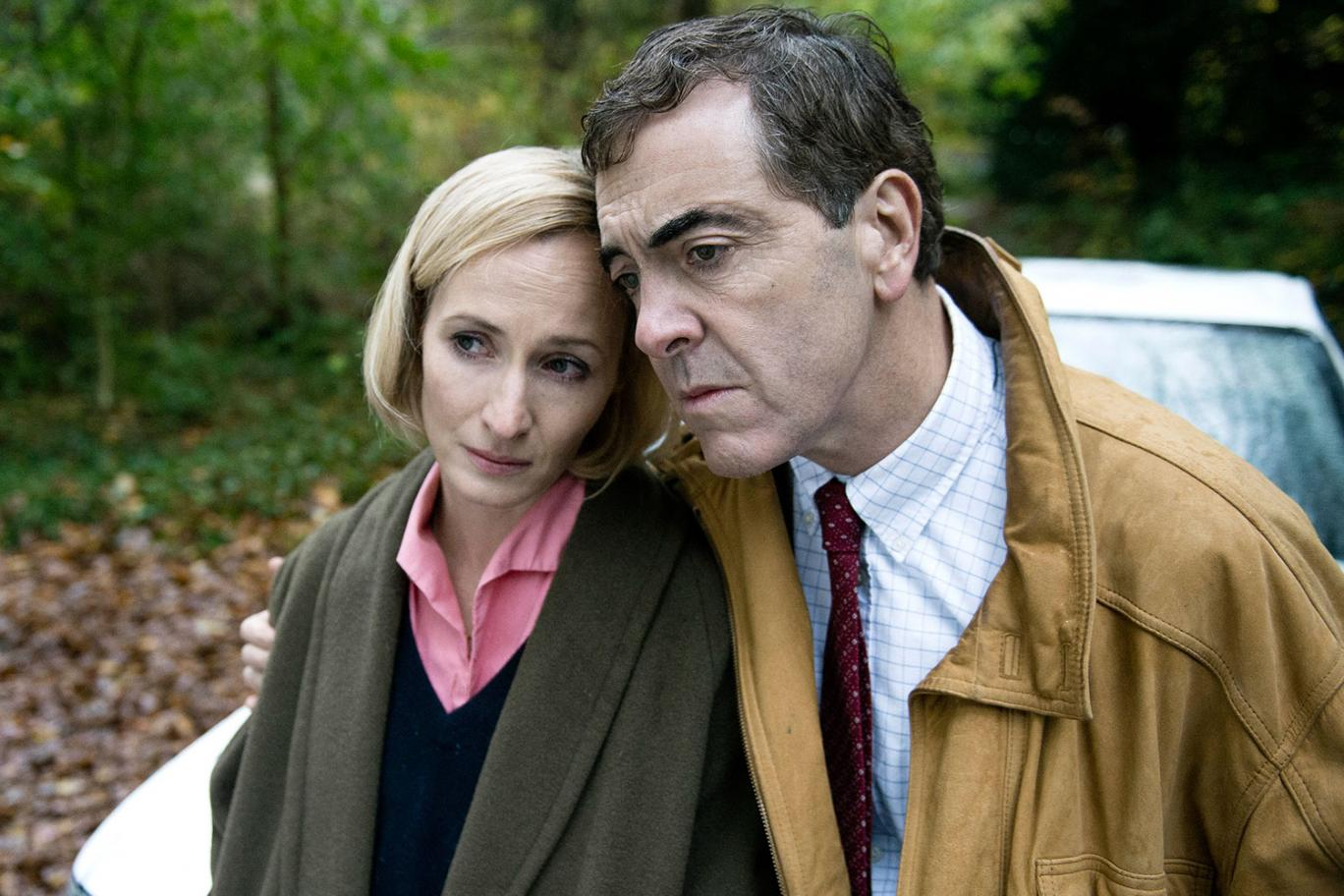 James Nesbitt and Genevieve O'Reilly as Colin Howell and Hazel Buchanan in The Secret ITV / Hat Trick Productions