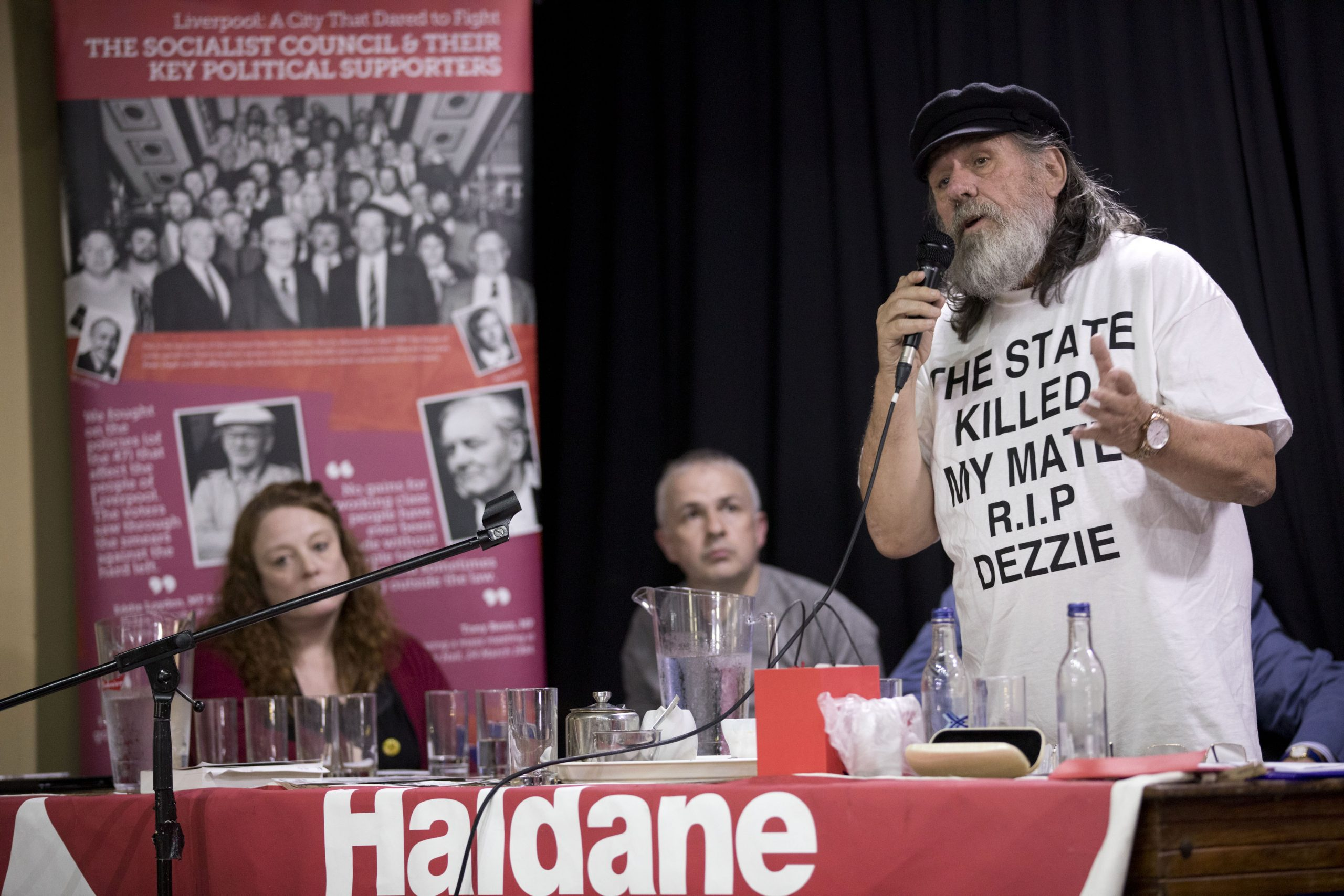 Haldane Society fringe meeting at Labour Party Conference, on The State and Political Policing. Casa Bar, Liverpool. © Jess Hurd/reportdigital.co.uk