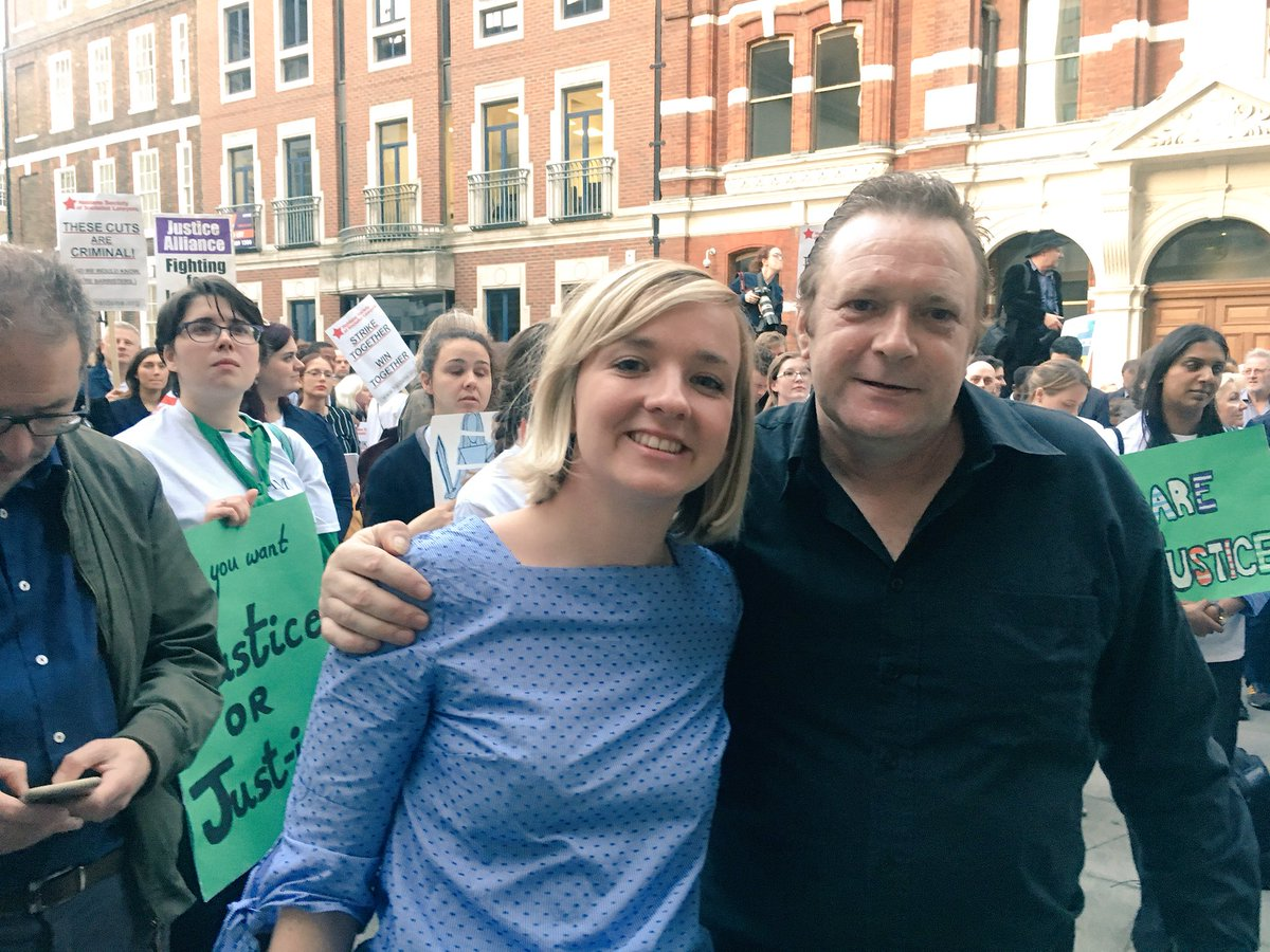 Tony Rice with barrister and JG contributor Mary-Rachel McCabe at the Vigil for Justice