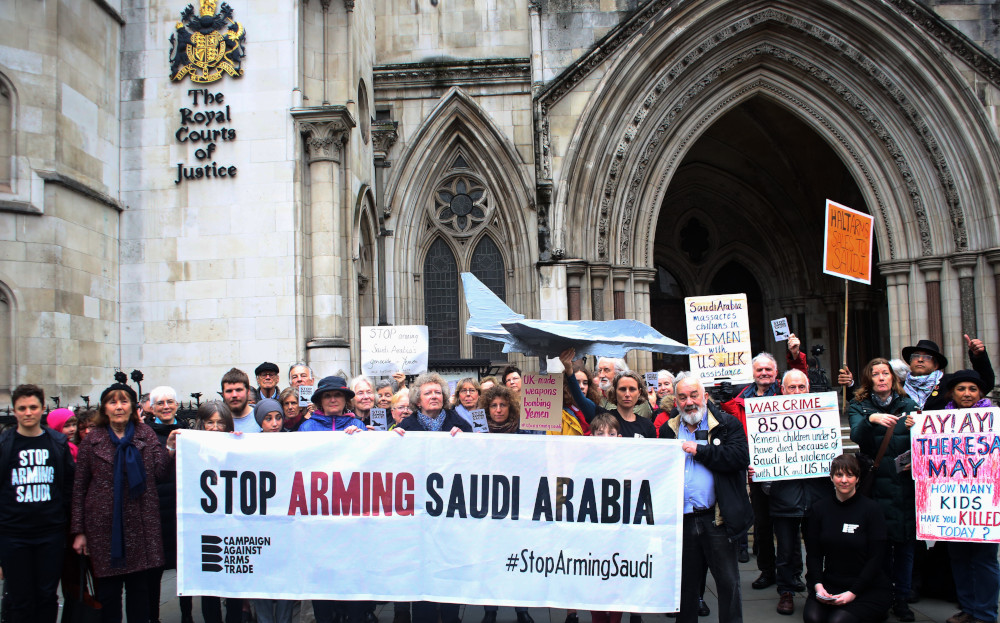 Arms sales to Saudi Arabia unlawful, court rules