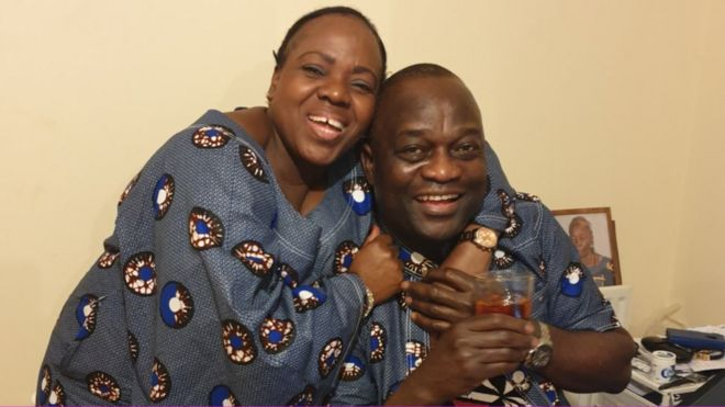 Belly Mujinga and husband Lusamba